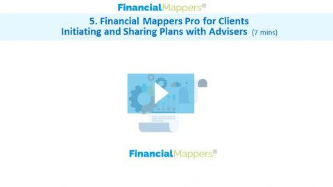 Financial Mappers Pro for Clients Initiating and Sharing Plans with Advisers