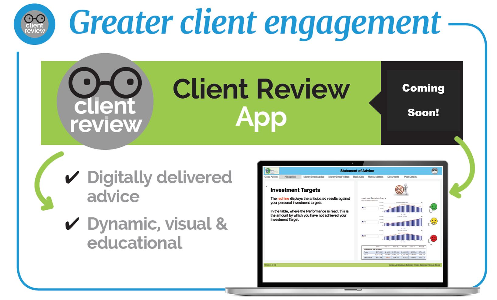 Financial Mappers client portal for client review
